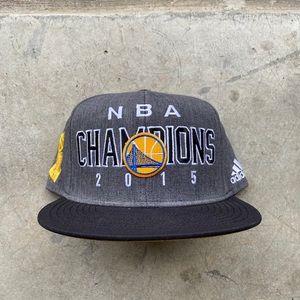 2015 Adidas GSW NBA Champions Snapback Hat